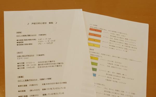 自己分析・声紋分析について